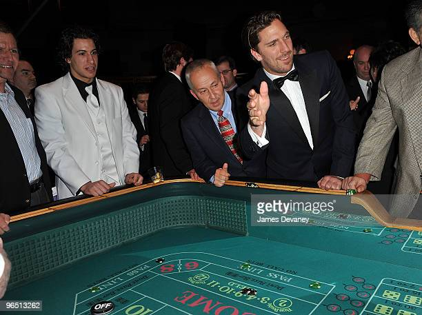 New York Ranger players Michael Del Zotto and Henrik Lundqvist host New York Rangers Casino Night benefit for the Garden of Dreams Foundation at...