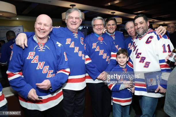 New York Rangers Alumni Brian Mullen Ron Greschner Glenn Anderson Ed Hospodar and Nick Fotiu attend Ronald McDonald House New York's 25th Annual...