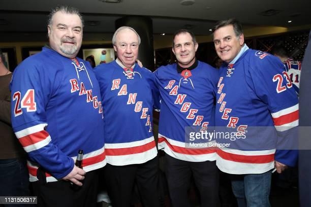 New York Rangers Alumni Chris Kotsopoulos Nick Fotiu Mike Hartman and Ed Hospodar attend Ronald McDonald House New York's 25th Annual Skate With The...