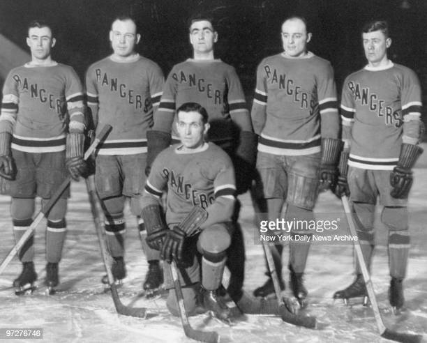 New York Rangers Bill Cook Taffy Abel Lorne Chabot Ching Johnson Bun Cook and Frank Boucher at Madison Square Garden