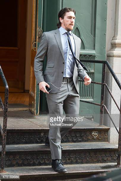 New York Rangers captain Ryan McDonough seen in Tribeca before game 7 of the Stanley Cup conference championship on May 29, 2015 in New York City.