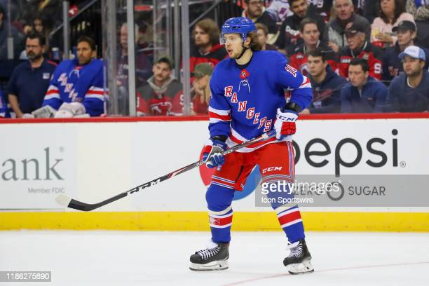 New York Rangers center Artemi Panarin skates during the National Hockey League game between the New Jersey Devils and the New York Rangers on...