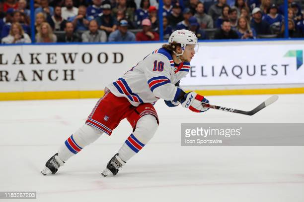 New York Rangers center Artemi Panarin skates during the NHL game between the New York Rangers and Tampa Bay Lightning on November 14 2019 at Amalie...