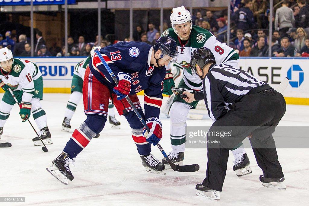 NHL: DEC 23 Wild at Rangers : News Photo