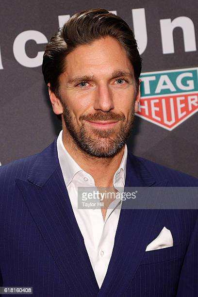 New York Rangers goalie Henrik Lundqvist attends the TAG Heuer 'Don't Crack Under Pressure' Muhammad Ali tribute at Gleason's Gym in Brooklyn on...