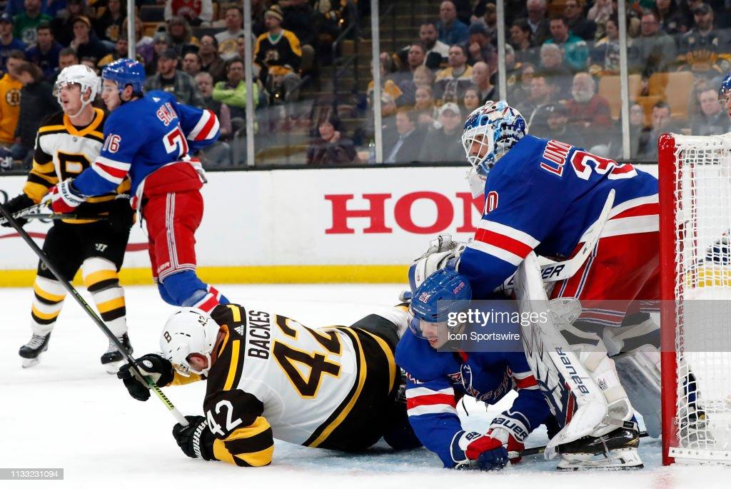 NHL: MAR 27 Rangers at Bruins : News Photo