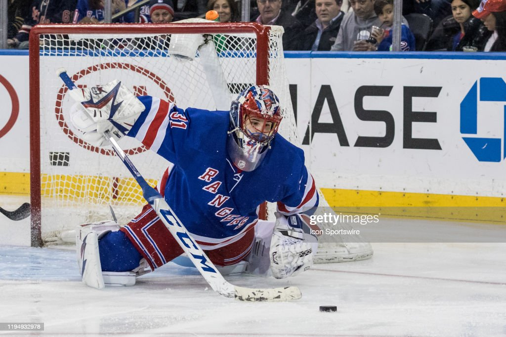 NHL: JAN 19 Blue Jackets at Rangers : News Photo