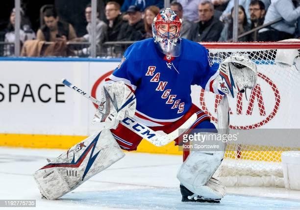 New York Rangers Goalie Igor Shesterkin in action during the National Hockey League game between the New Jersey Devils and the New York Rangers on...