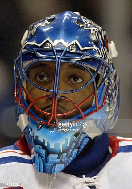 New York Rangers' goalie Kevin Weekes during a game against the Buffalo Sabres at the HSBC Arena in Buffalo, NY, November 22, 2005. The Rangers...