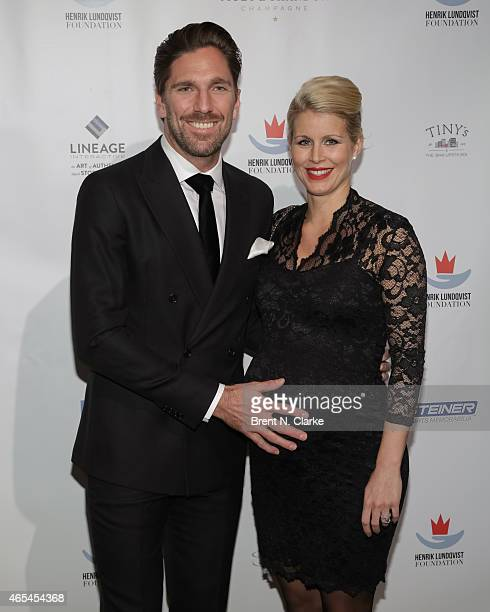New York Rangers goaltender Henrik Lundqvist and his wife Therese Andersson arrive for An Evening Behind The Mask With The Henrik Lundqvist...