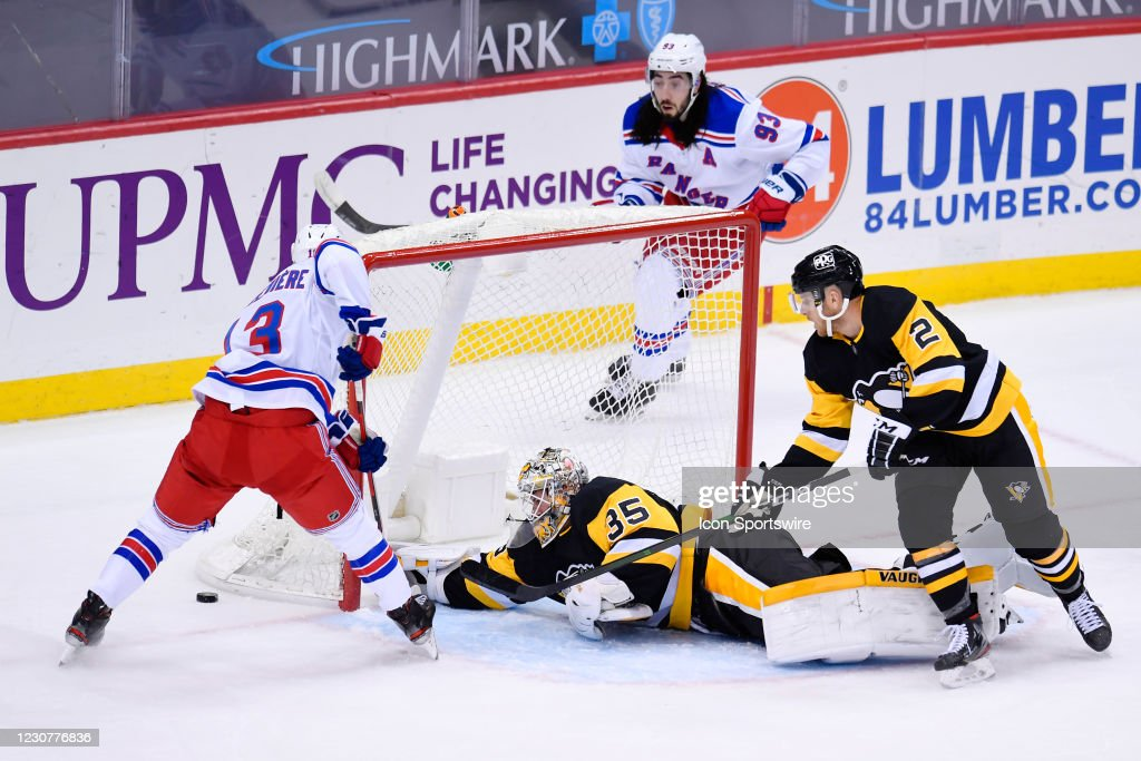 NHL: JAN 24 Rangers at Penguins : News Photo