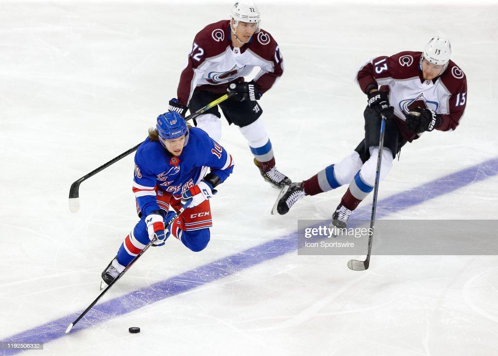 NHL: JAN 07 Avalanche at Rangers : News Photo