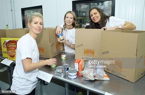 New York Rangers players wife Therese Lundqvist Gabriela Landberg and Johanna Bialous attend 2016 Henrik Lundqvist Foundation Food Bank For New York...