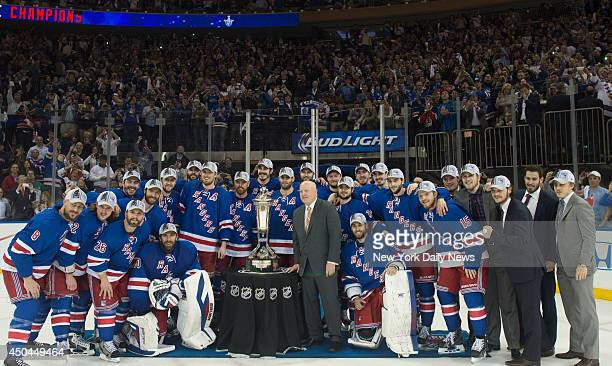 New York Rangers with the prince of whales trophy as they win 10 against the Montreal Canadiens in game 6 of the Eastern Conference Stanley Cup...