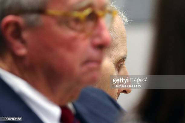 New York real estate heir Robert Durst sits for opening statements in his murder trial in Los Angeles California March 9 2020 The eccentric US real...