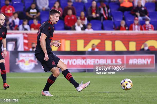 New York Red Bulls defender Sean Nealis during the Major League Soccer game between the New York Red Bulls and the Philadelphia Union on September...