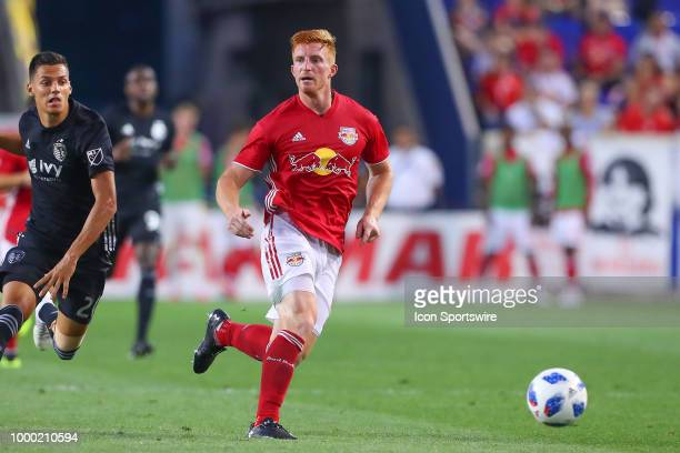 New York Red Bulls defender Tim Parker during the second half of the Major League Soccer game between Sporting Kansas City and the New York Red Bulls...