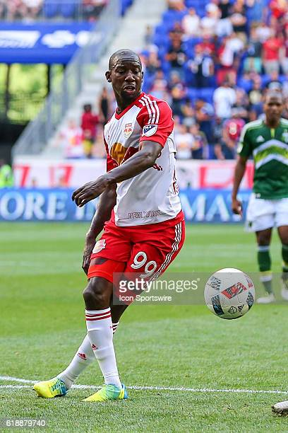 New York Red Bulls forward Bradley WrightPhillips during the first half of the game between the New York Red Bulls and the Portland Timbers played at...