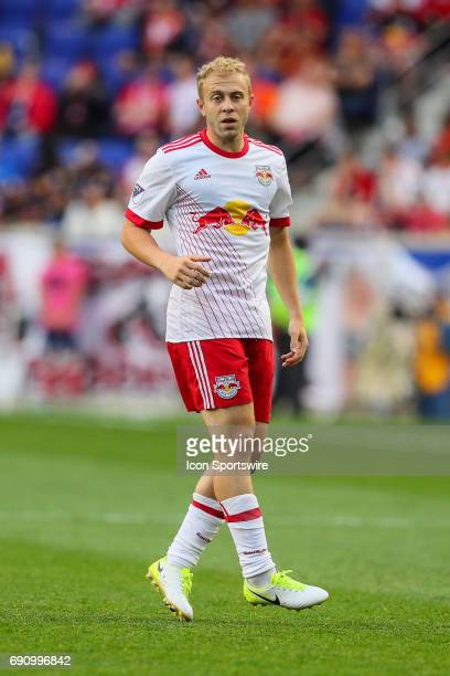 New York Red Bulls forward Mike Grella during the Major League Soccer game between the New York Red Bulls and the New England Revolution on May 27...
