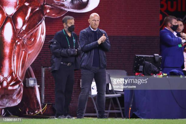 New York Red Bulls head coach Gerhard Struber during the Major League Soccer game between the New York Red Bulls and the Philadelphia Union on...