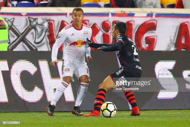 New York Red Bulls midfielder Alejandro Romero Gamarra during the second half of the CONCACAF Champions League Quarterfinal match between the New...