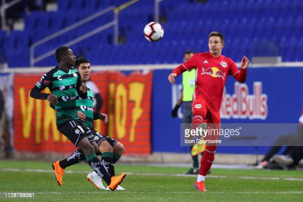 New York Red Bulls midfielder Alex Muyl during the first half of the CONCACAF Champions League Quarterfinal Soccer game between the New York Red...