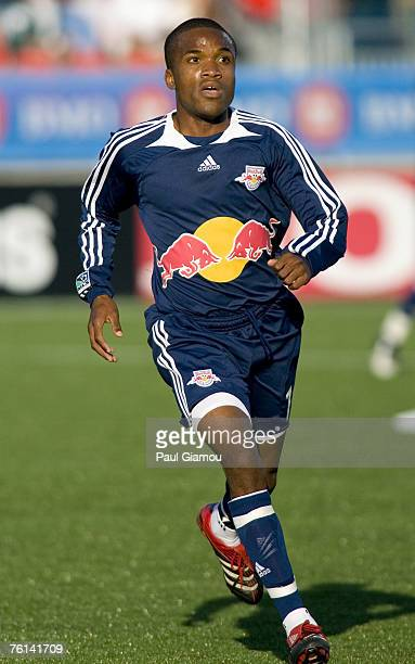 New York Red Bulls midfielder Dane Richards during the home match against the Toronto FC in Toronto Ontario Canada on June 6 2007 New York won 21