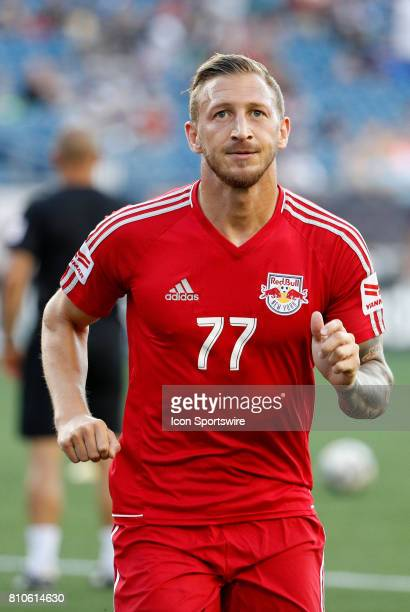 New York Red Bulls midfielder Daniel Royer before a regular season MLS match between the New England Revolution and New York Red Bulls on July 5 at...