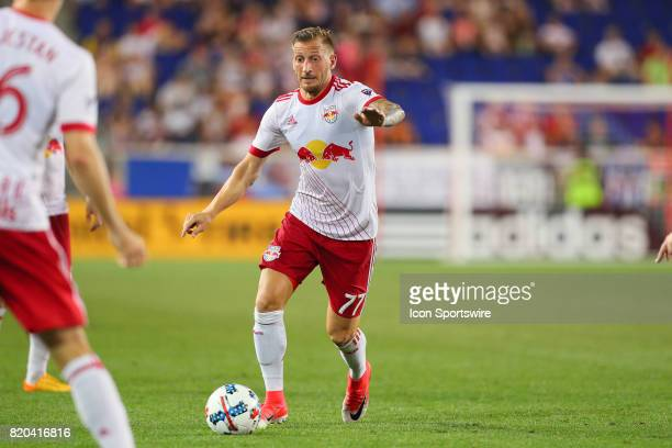 New York Red Bulls midfielder Daniel Royer during the Major League Soccer game between the San Jose Earthquakes and the New York Red Bulls on July 19...