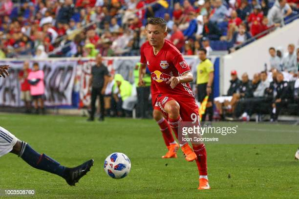 New York Red Bulls midfielder Marc Rzatkowski during the first half of the Major League Soccer game between the New York Red Bulls and the New...