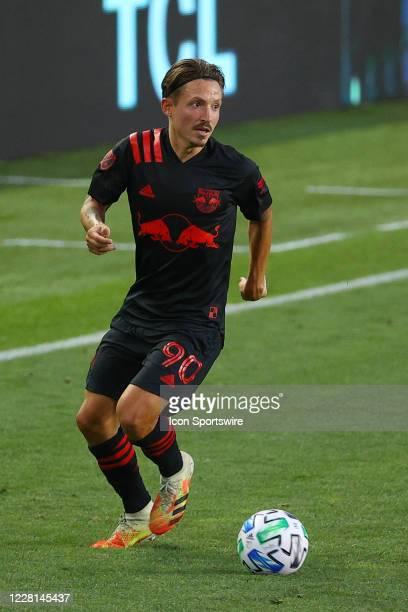New York Red Bulls midfielder Marc Rzatkowski during the first half of the Major League Soccer game New York Red Bulls and the New York City on...