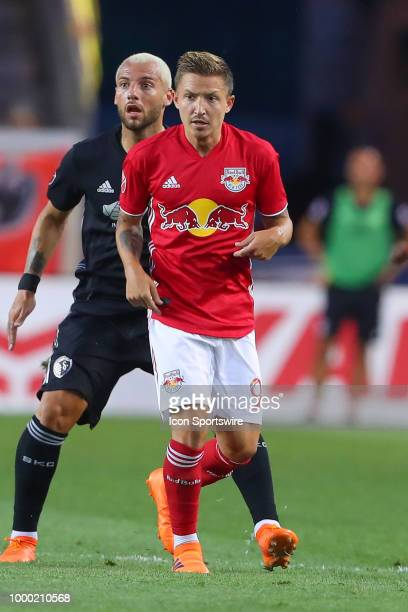 New York Red Bulls midfielder Marc Rzatkowski during the second half of the Major League Soccer game between Sporting Kansas City and the New York...