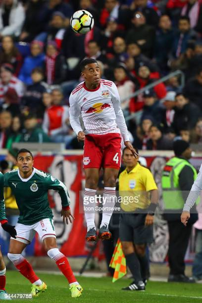 New York Red Bulls midfielder Tyler Adams during the first half of the CONCACAF Champions League game between Chivas de Guadalajara at NY Red Bulls...