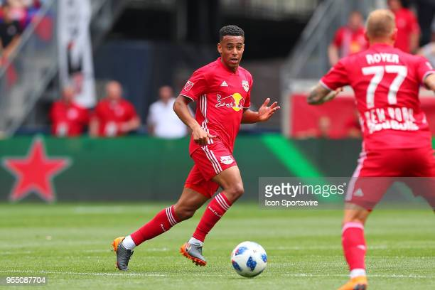 New York Red Bulls midfielder Tyler Adams during the first half of the Major League Soccer game between New York City and the New York Red Bulls on...