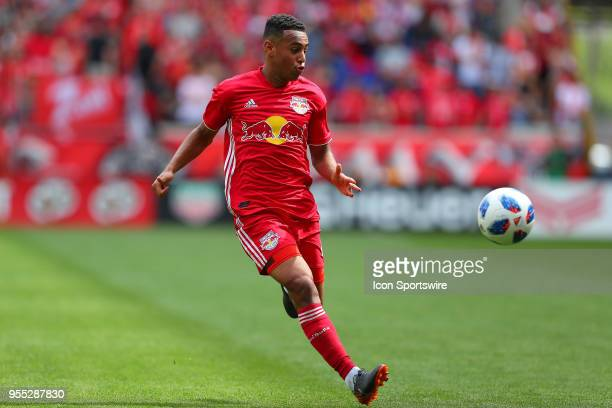 New York Red Bulls midfielder Tyler Adams during the second half of the Major League Soccer game between New York City and the New York Red Bulls on...