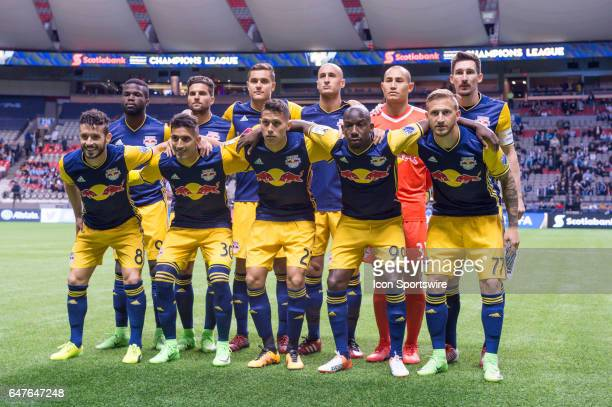 New York Red Bulls starting 11 pose for a photo prior to the CONCACAF Champions League Quarterfinal game between the Vancouver Whitecaps and the New...
