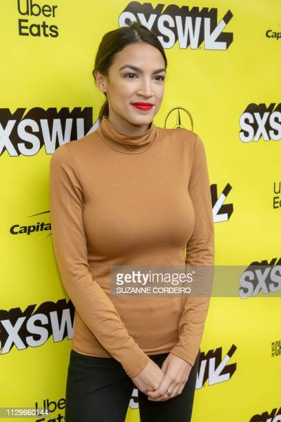 New York Rep Alexandria OcasioCortez attends the Knock Down The House movie premiere during the 2019 SXSW conference and Festivals at the Paramount...