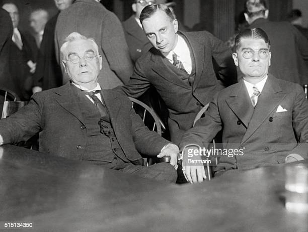 Rhinelander And Counsel In Court Photo shows Leonard Kip Rhinelander at the right as he appeared in court in his suit against his wife Mrs Alice...