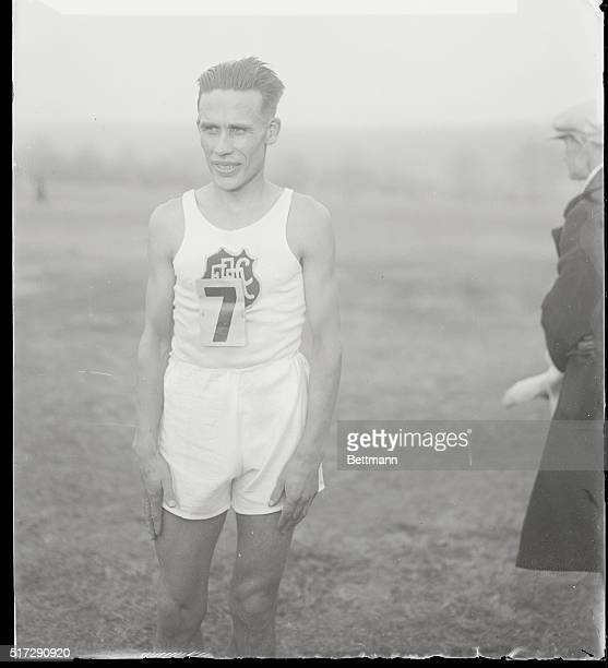 Ritola Wins National Senior Title Cross Country Run Photo shows Willie Ritola of the Finnish American A C who won the seven mile senior title cross...