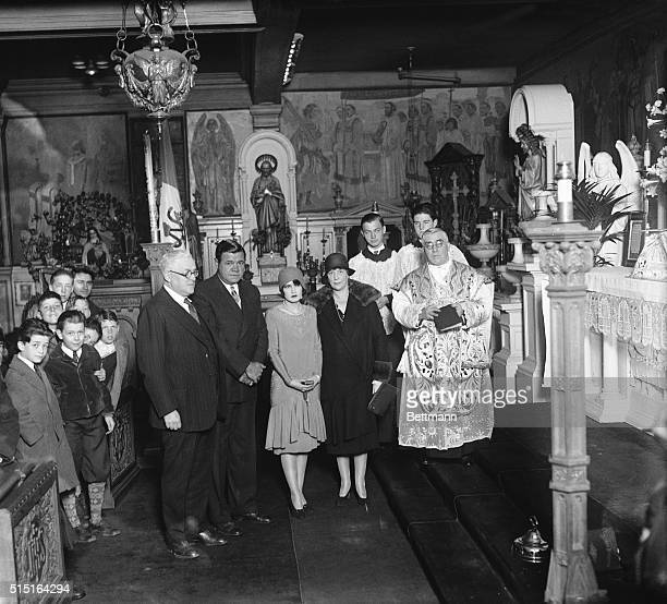 Ruth Bride Babe Ruth Wedding At St Gregory's Left to right George Henry Lovell Babe Ruth Swat King Claire Hodgson his bride former stage star Mrs...