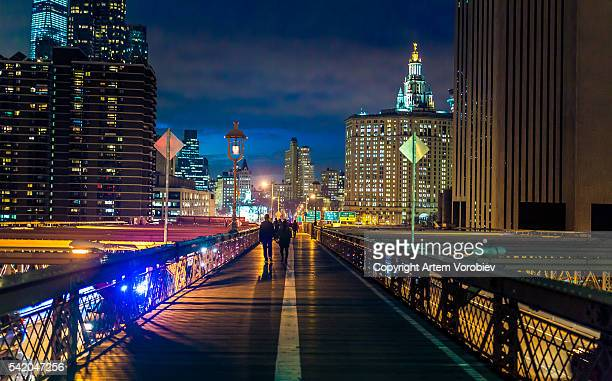 new york, seen from the brooklyn bridge - dumbo stock photos and pictures