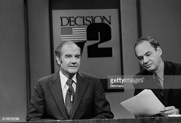 Sen George McGovern acknowledging he had begun an allout campaign to broaden the base of his support defended former Pres Lyndon Johnson on the...
