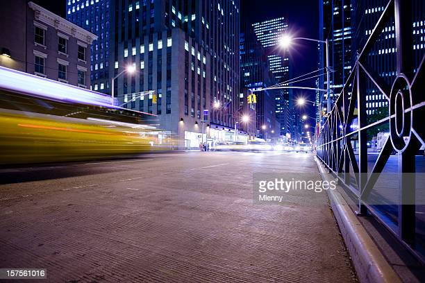 new york sixth avenue night rush - sixth avenue stock pictures, royalty-free photos & images
