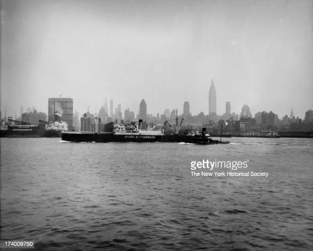 New York Skyline from Weehawken Ferry New York New York 1920s