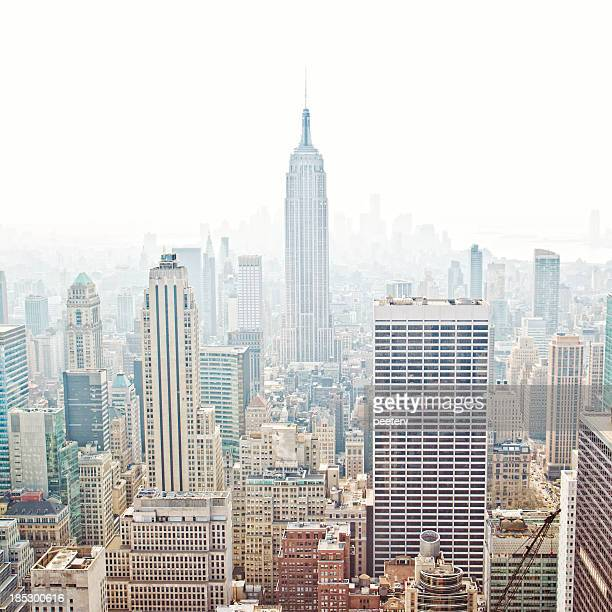 new york skyline. - high key stock pictures, royalty-free photos & images