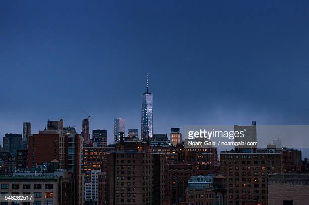 new york skyline - noam galai stock pictures, royalty-free photos & images