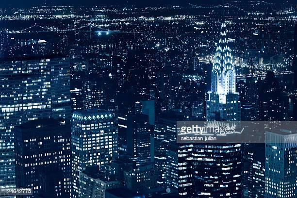new york Wolkenkratzer und chrysler building bei Nacht