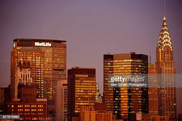 new york skyscrapers - metlife building stock pictures, royalty-free photos & images