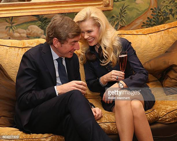 New York Socialite MichelleMarie Heinemann Hosts Luncheon For Prince Charles Henri Lobkowicz At Plaza Athenee on January 8 2016 in New York City