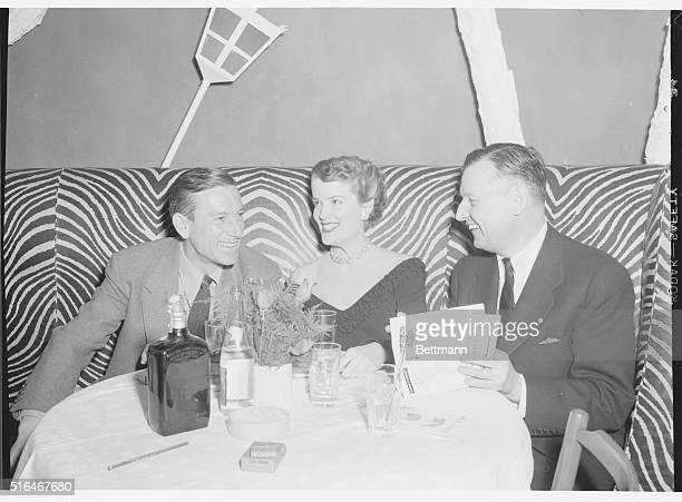 Songwriter Hoagy Carmichael and friends at Manhattan's posh El Morocco nightclub 154 E 54th Street New York City